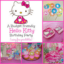 super sweet kitty birthday party free printables