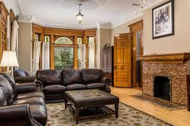 Traditional Family Room With High Ceiling  Crown Molding In La - Traditional family room