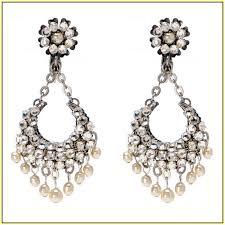 Vintage Pearl Chandelier Earrings Pearl And Crystal Chandelier Earrings Home Design Ideas