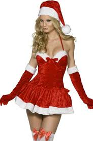 naughty miss santa costume lingerie candy