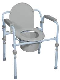 folding bedside commode with bucket and splash guard drive medical
