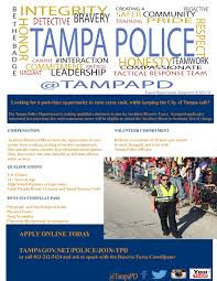 City Of North Bay Fire Recruitment by Tampa Police Department Recruiting Auxiliary Officers City Of Tampa