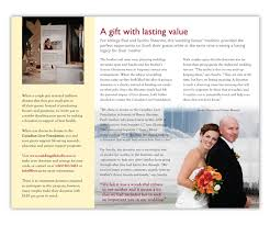 Example Of Wedding Program Wedding Program Brochure Canadian Liver Foundation On Behance