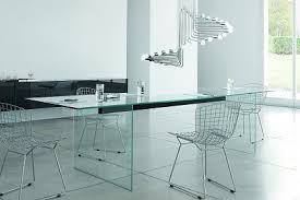 all glass dining room table wonderfull design all glass dining table modern tables from gallotti