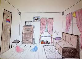 Bedroom Design Lesson Plan The Helpful Art Teacher Draw A One Point Perspective City And A Room