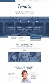 femida law firm responsive website template website design