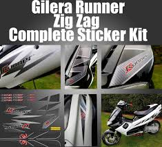 gilera runner zig zag stickers fl carbon lightning 621745 sp