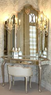Glass Vanity Table Hollywood Dressing Table Mirror With Lights Antique Ebay Front