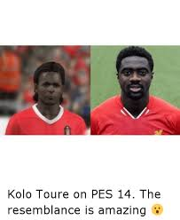 Kolo Toure Memes - fi kolo toure on pes 14 the resemblance is amazing soccer meme