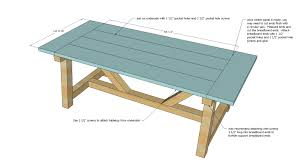 Build A Wooden Table Top by Ana White 4x4 Truss Beam Table Diy Projects