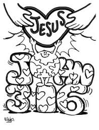 easter coloring picture john 3 16 easter pinterest easter