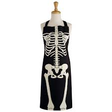 Aprons Printed Amazon Com Dii Design Imports Black Cotton Halloween Skeleton