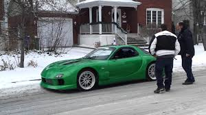 widebody rx7 rx7 widebody on snow youtube