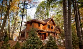 two story log homes pine view benson home builders