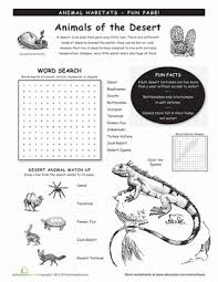animal habitats worksheets education com