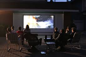 How To Make A Backyard Movie Screen by Diy Pro Screen Series Outdoor Projector Screens Elite Screens