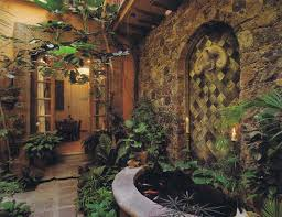 Hacienda Home Interiors Terrific Interior Garden For Hacienda Home Decoration With Half
