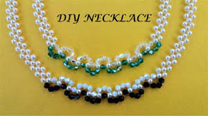 crystal necklace making images Diy pearl and crystal beading necklace easy handmade jewelry jpg