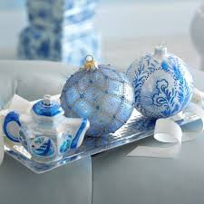 Blue Christmas Decorations Pictures by 358 Best Blue Christmas Images On Pinterest Blue Christmas