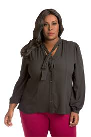blouses for plus size plus size poetic justice s neck tie blouse black