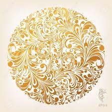 ornamental gold circle pattern royalty free cliparts vectors and