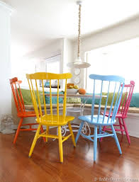 minimalist painted dining room chairs with before and after