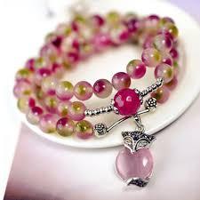 crystal stone bracelet images Natural watermelon crystal stone stone bracelet pink fox clover jpg