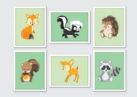 Woodland Animal Nursery Decor by Woodland Animals Nursery Art Woodland Nursery Woodland