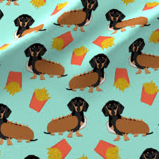 dachshund dog and fries food funny dog costume cute dog wiener