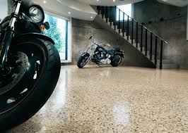 polished concrete floors as strong base flooring amaza design garage design interior with polished concrete floors completed with contemporary staircase decoration ideas for home inspiration