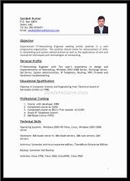 Best Resume For Civil Engineer Fresher Free Download Resume Format For Freshers Computer Science