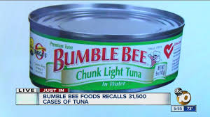 bumble bee chunk light tuna recall alert 31 500 cases of bumble bee foods chunk light tuna