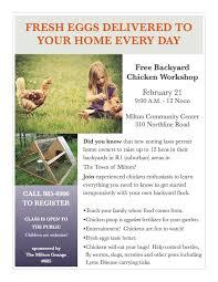 free u0027backyard chickens u0027 workshop in milton the ballston journal