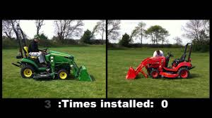 john deere kubota comparison youtube