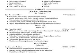 Law Enforcement Resume Examples by Loss Prevention Officer Resume Sample Reentrycorps