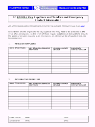 business continuity and disaster recovery plan template the