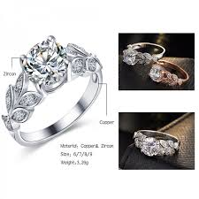 color wedding rings images 17km fashion silver color crystal flower wedding rings for women jpeg