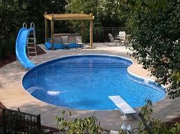 small backyard inground pool design photo of well small backyard