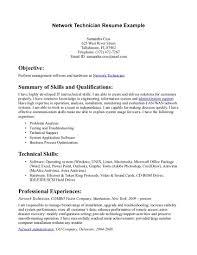 network technician resume samples network technician sample