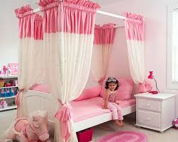 Princes Bed Stylish Girls Pink Bedrooms Ideas