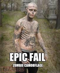 Epic Fail Meme - epic fail zombie camouflage camouflage meme picsmine
