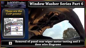 2009 hyundai accent window washer series part 6 rear wiper motor