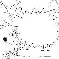 simple hedgehog coloring