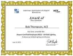 american association of airport executives silver embossed