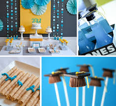 college graduation centerpieces a and sweet candy bar for a graduation party decoration idea