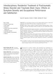 interdisciplinary residential treatment of posttraumatic stress