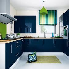 meuble cuisine bleu meuble de cuisine bleu nuit idée de modèle de cuisine