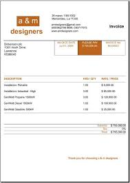 Invoice Template For Designers by Invoices Templates