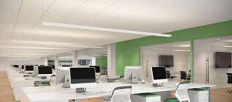 open office lighting design evenly distributed glare free lighting illuminates tasks while