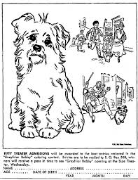 mostly paper dolls greyfriars bobby coloring contest